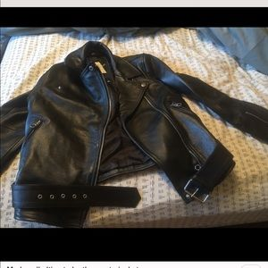 Made well leather jacket moto with tags